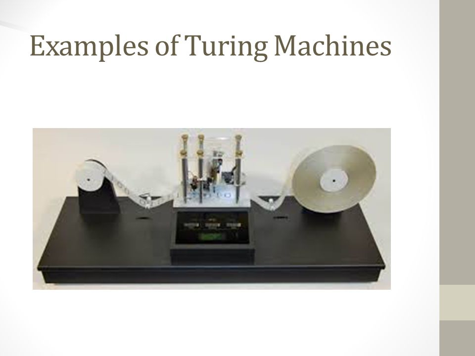 Examples of Turing Machines