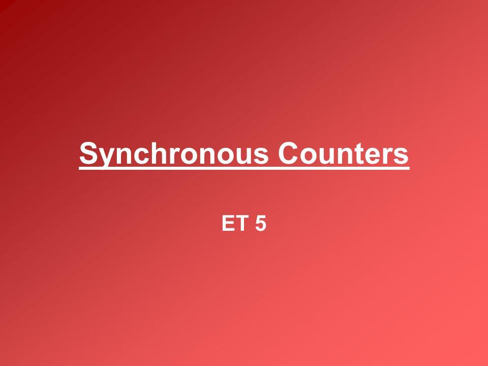 Synchronous Counters ET 5
