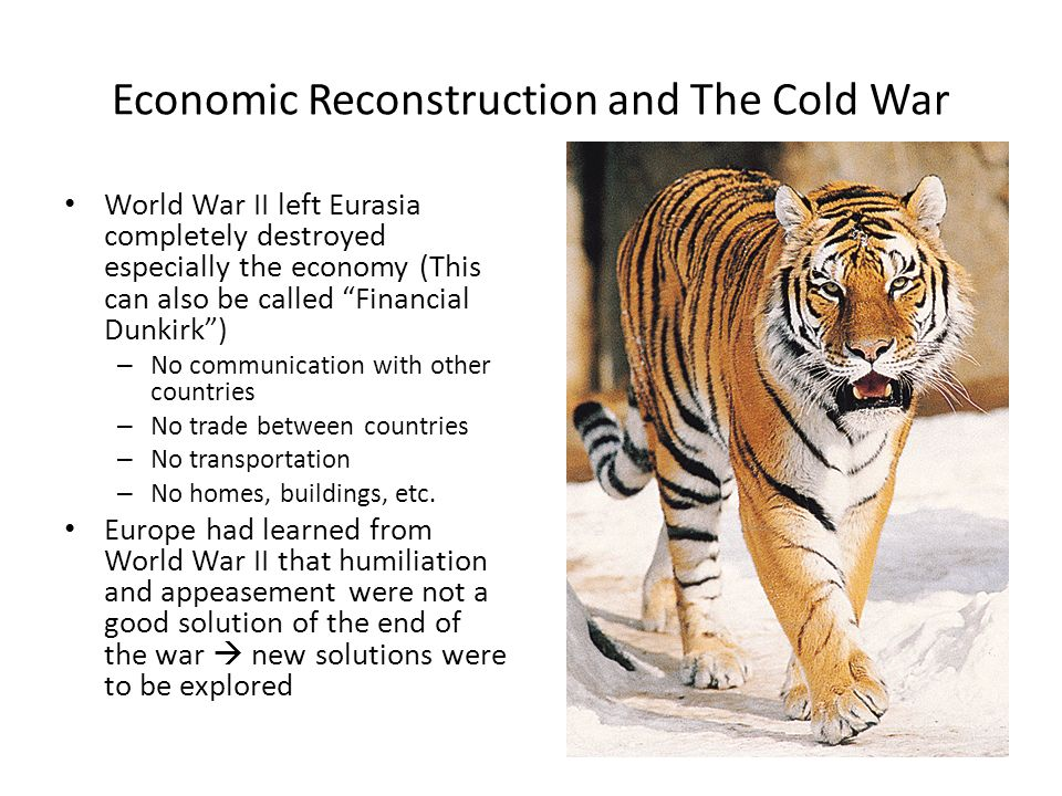 Economic Reconstruction and The Cold War World War II left Eurasia ...