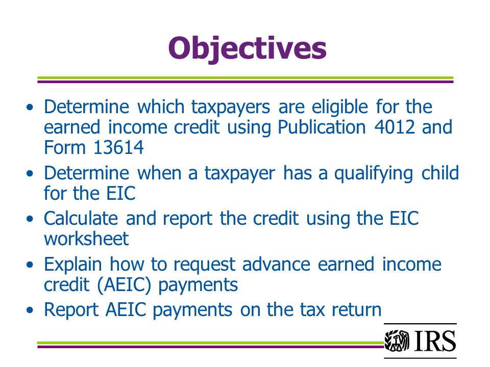 Earned income credit table – calculating your EIC