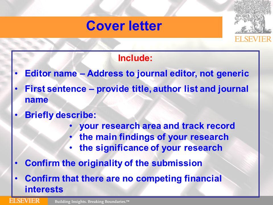 Editor Cover Letter Acworldcup Tk SlideShare Cover Letter Dear Editor Cover  Letter Template To Whom It
