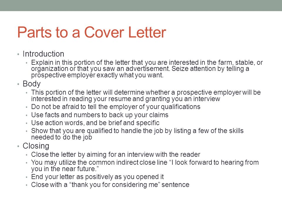 purpose of a covering letters