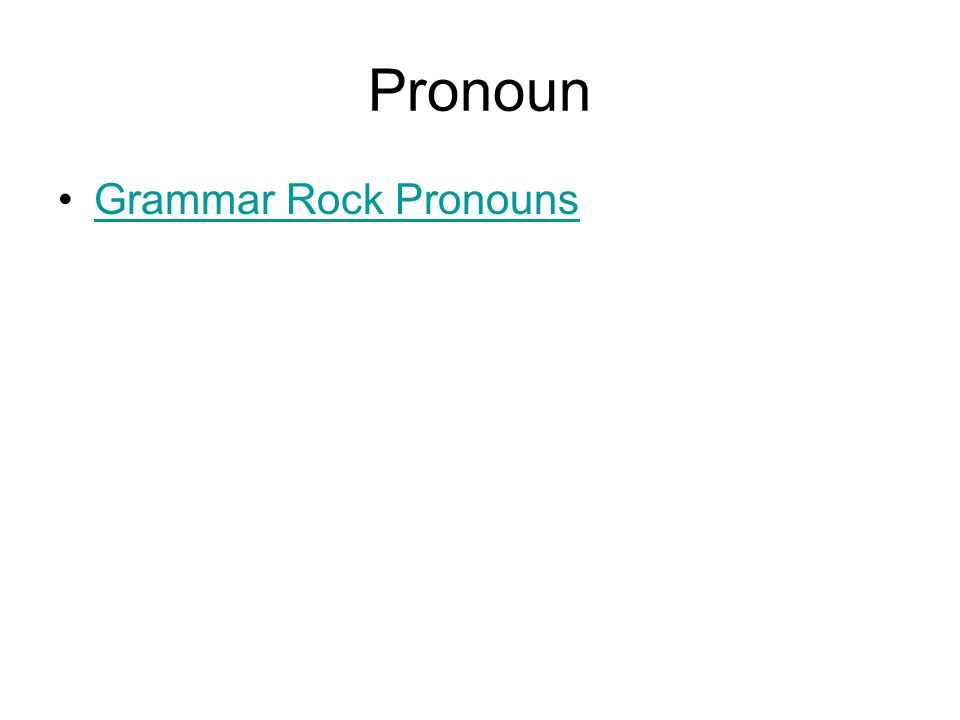 Pronouns A pronoun –takes the place of a noun Types of pronouns –Personal I, you, he, she, them, his, ours –Reflexive myself, yourself, himself, themselves –Relative That, which, who, whom, whose –Interrogative Which.