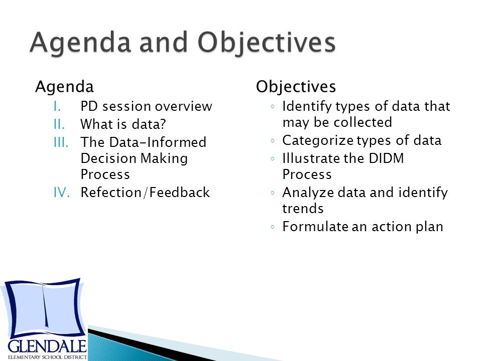 Agenda I.PD session overview II.What is data.