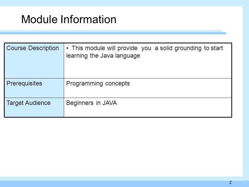 information java language