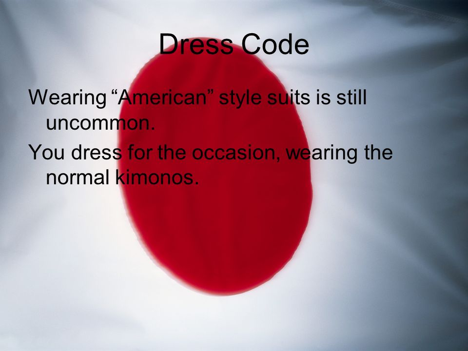 Business ethics of japan tyler tyler common greetings it is very dress code wearing american style suits is still uncommon m4hsunfo Images