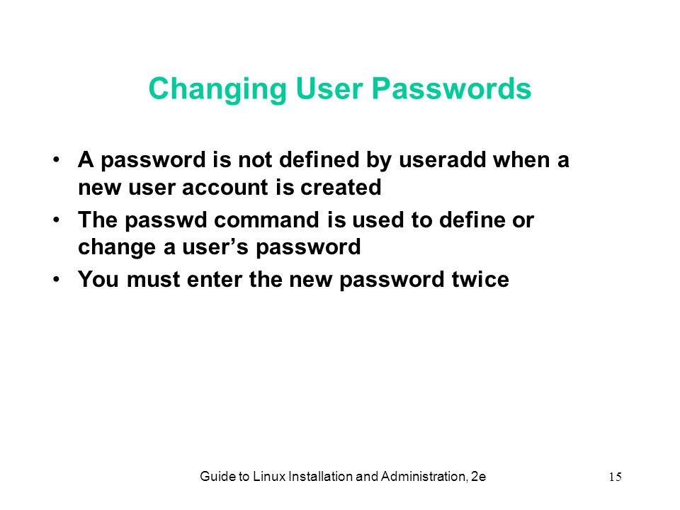 change user linux