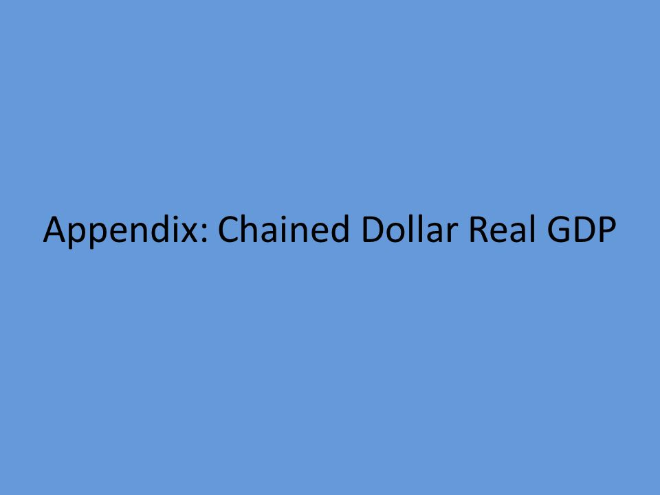 Appendix: Chained Dollar Real GDP