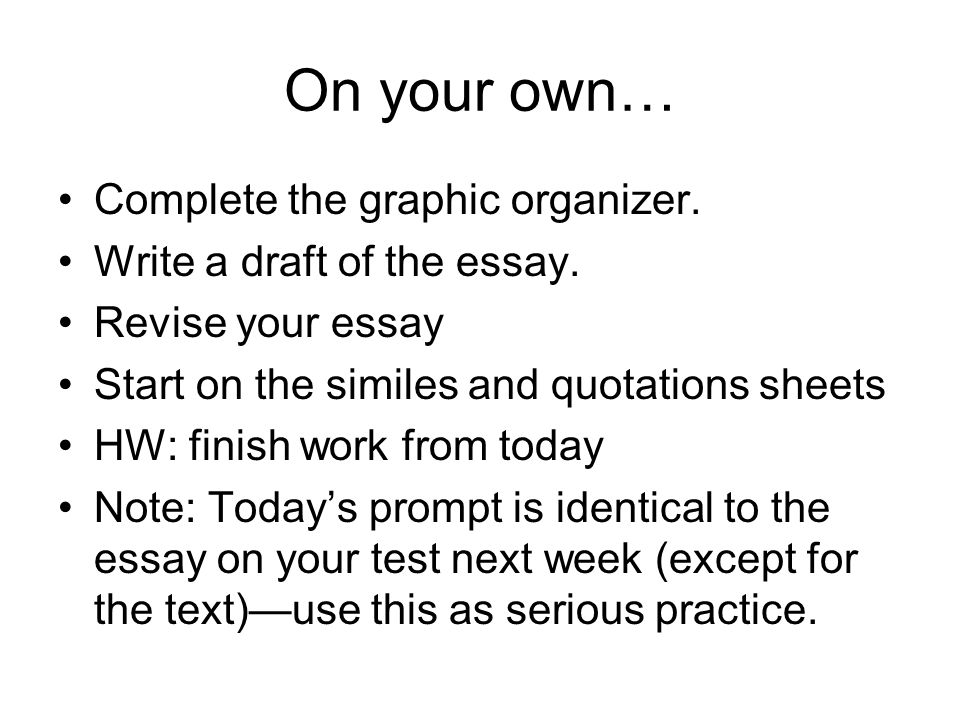 revising your own essay So why repeat it as the subject of your own paper after some reconsideration, the writer decides to develop and refine the thesis to examine a slightly different.