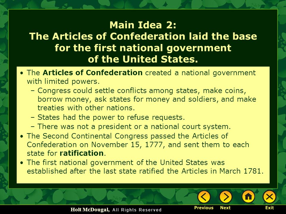 an overview of the articles of confederation and the economic conditions during the 18th century of  The economic crisis of the 1780s and political refuge during the revolutionary war links to historical documents of the 18th century.