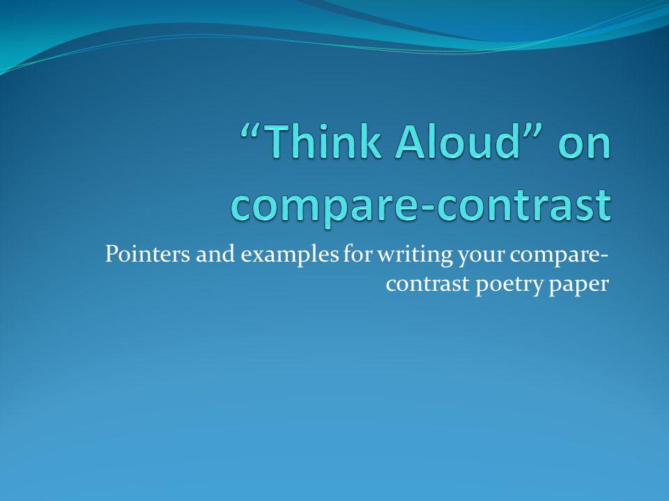 comparison contrast poetry essay
