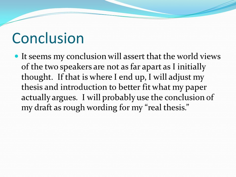free will and conclusion essay
