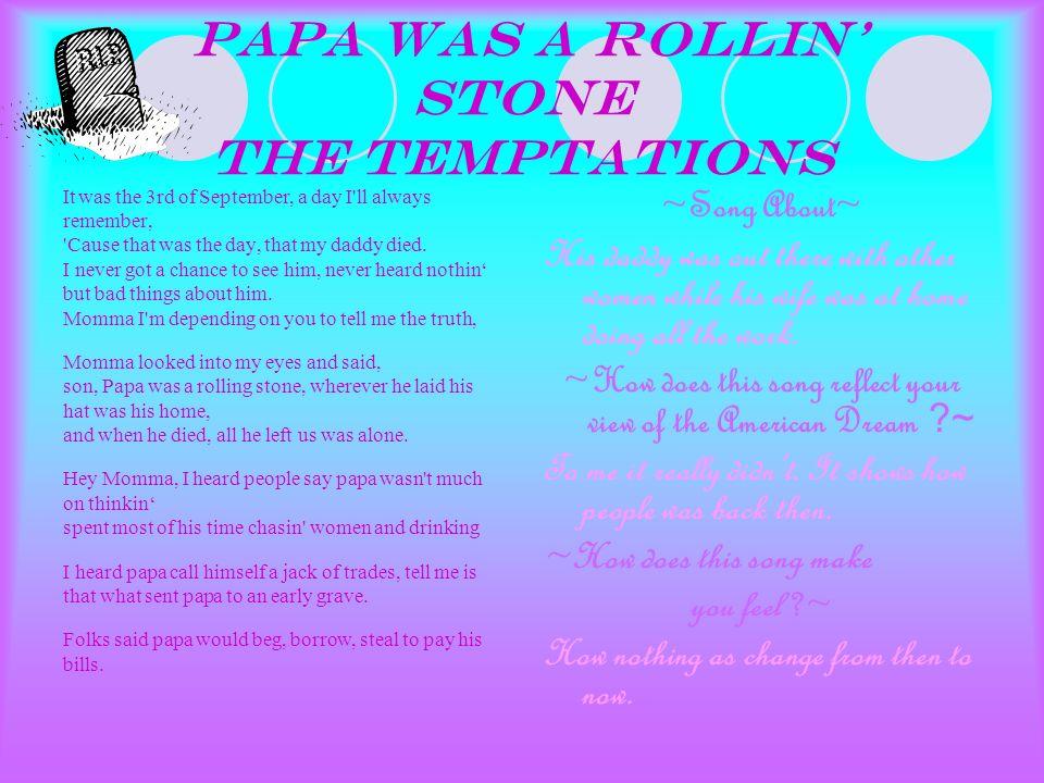 papa us a rolling stone