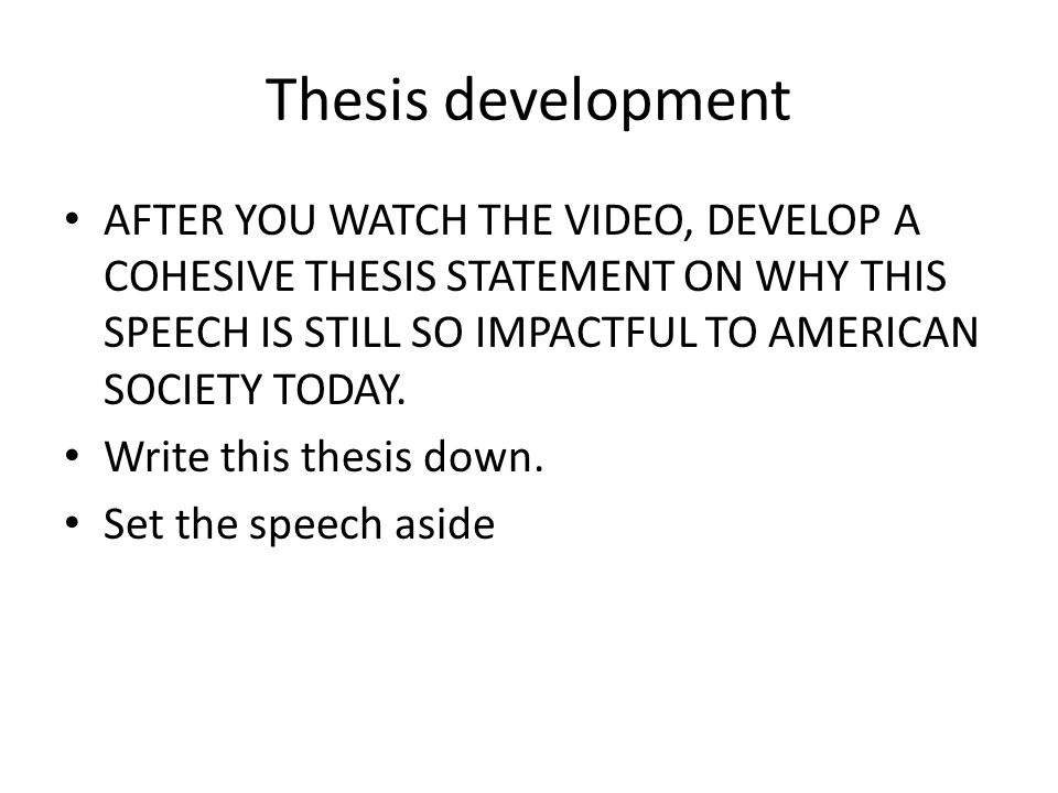 2 thesis development