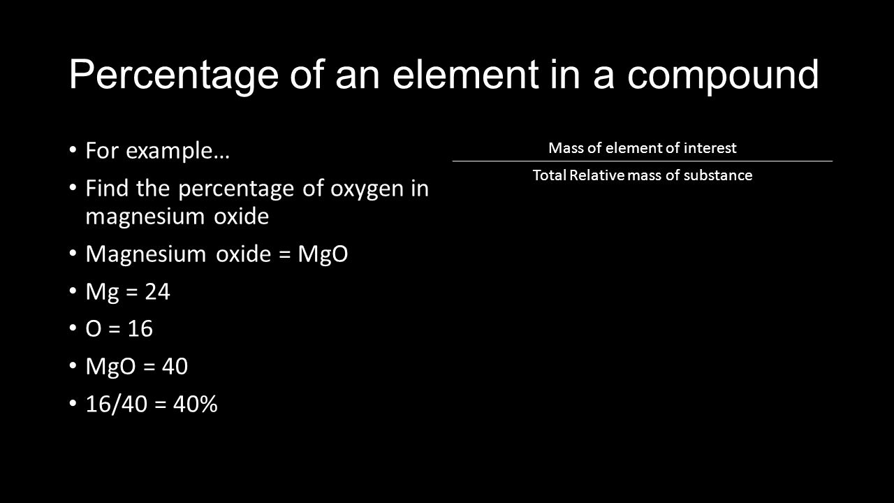 finding thr percentage composition of magnesium oxide essay Lab: stoichiometry parts of the text on this lab will not print out this is by design the parts that won't print are notes for teachers.