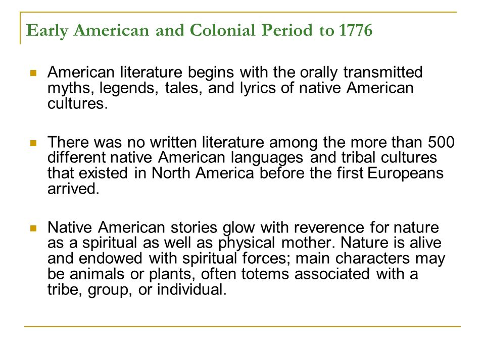 individualism in early american literature Early american literature struggled to find a unique voice in existing literary genre, and this tendency was reflected in novels european styles were frequently imitated, but critics usually considered the imitations inferior the first american novel in the late 18th and early 19th centuries, the first american novels were published.