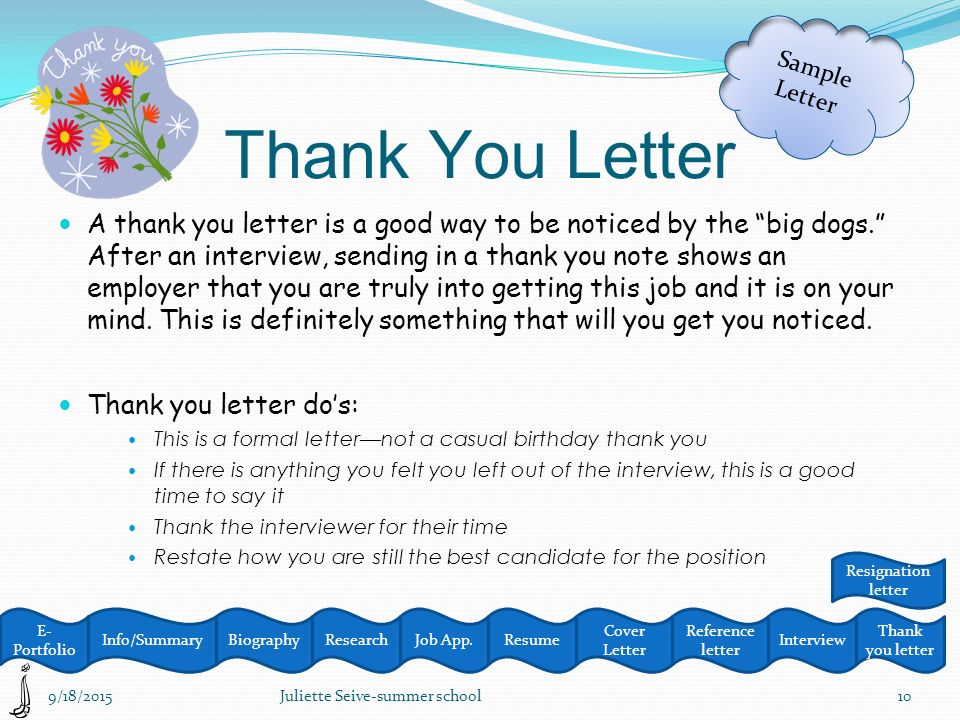 Biographyjob AppResume Resignation Letter Thank You Letter