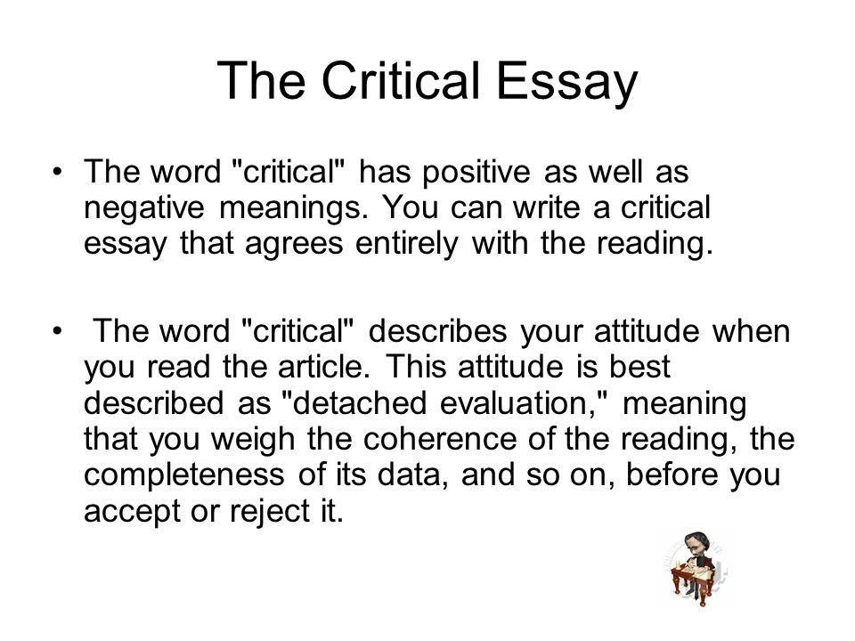 critical essay on medea Created date: 8/23/2006 2:29:37 pm.