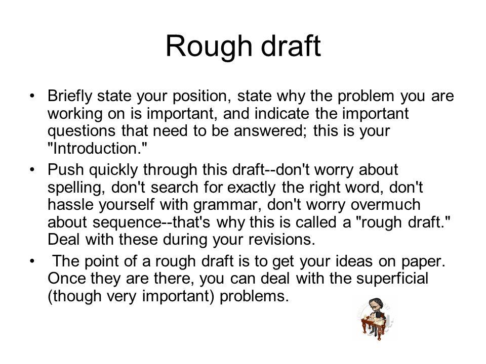 Rough Draft Essay