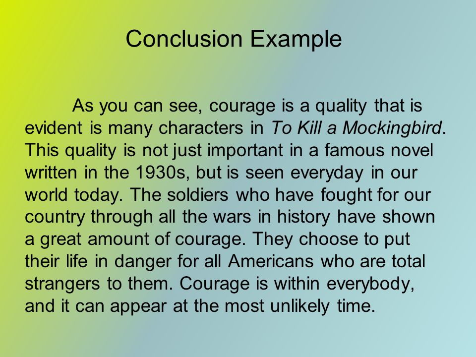 tkam essay courage