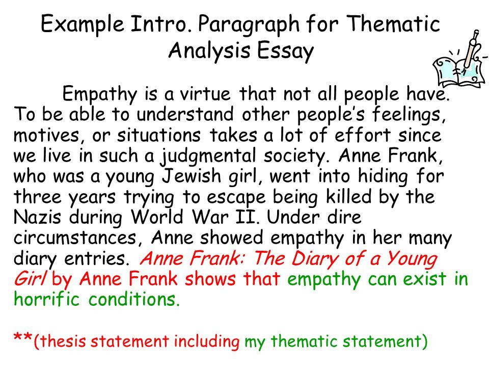 Thematic Analysis Essay