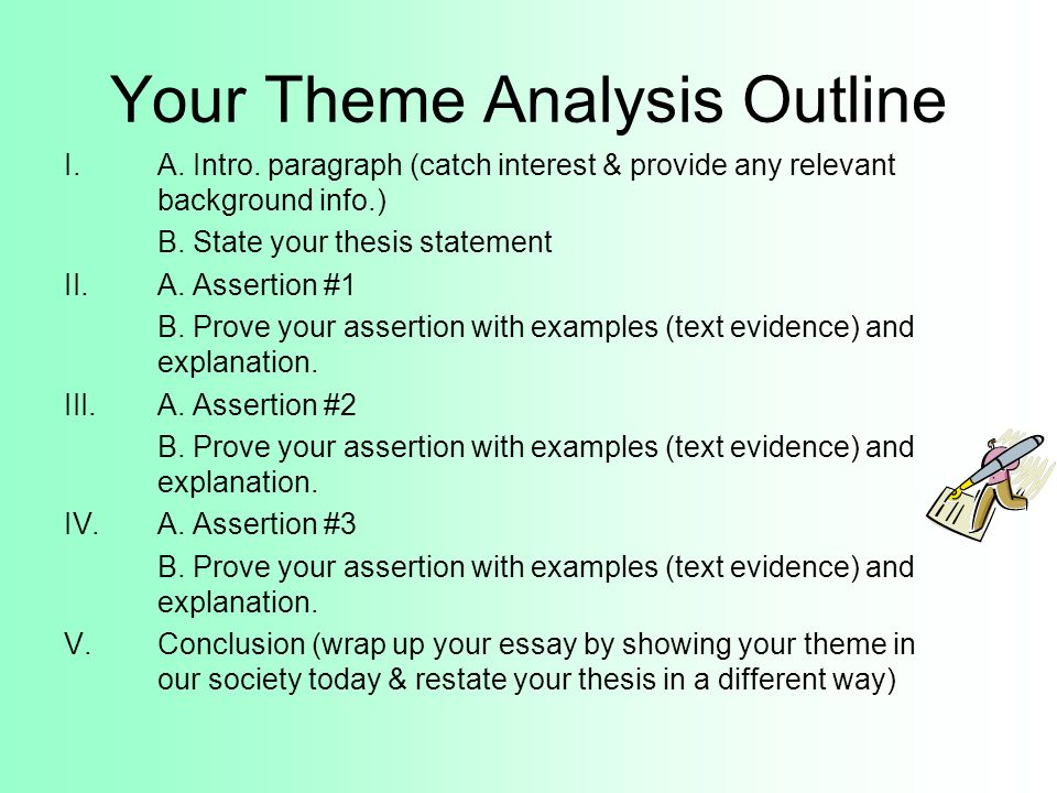 your theme analysis outline ia intro essay theme examples - Essay Theme Examples