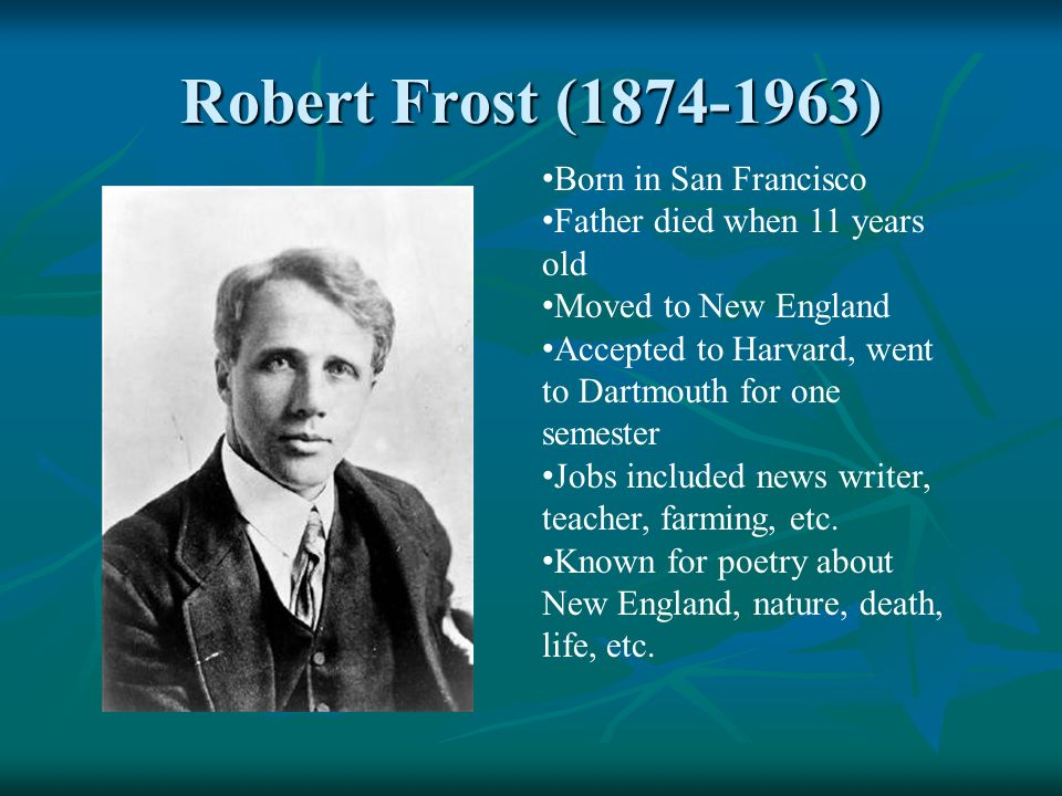 an essay on robert frost and the use of nature in his poems Robert frost: poems study guide contains a biography of poet robert frost, literature essays, quiz questions, major themes, characters, and a full summary and analysis of his major poems.