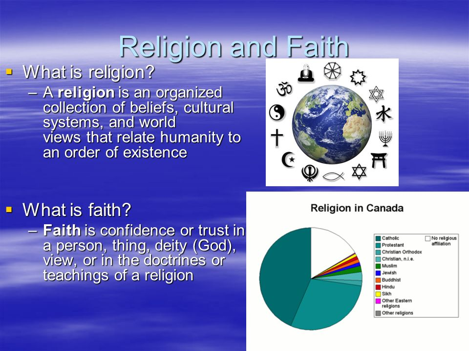 Religion and Faith  What is religion.