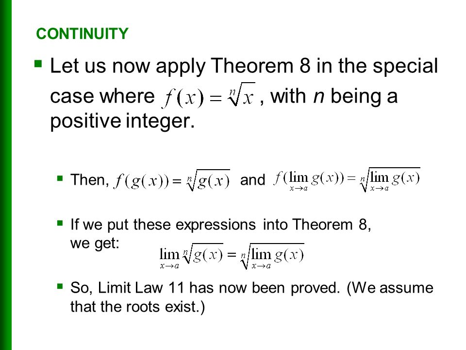  Let us now apply Theorem 8 in the special case where, with n being a positive integer.
