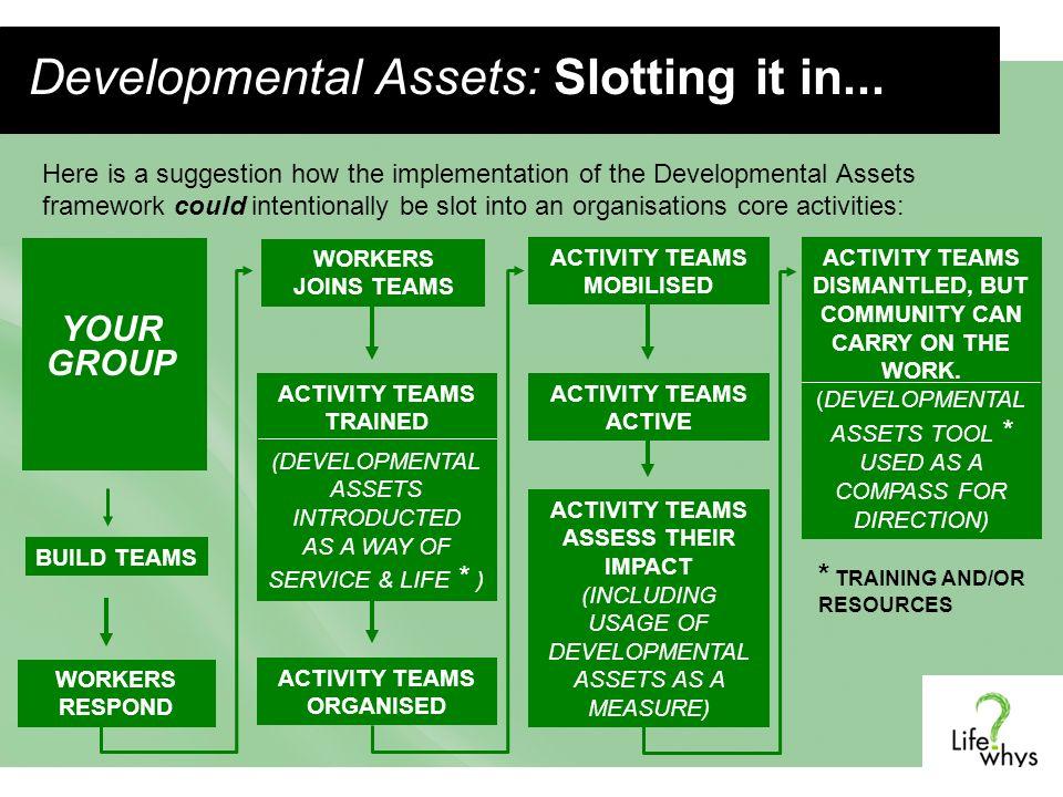Developmental Assets: Slotting it in...