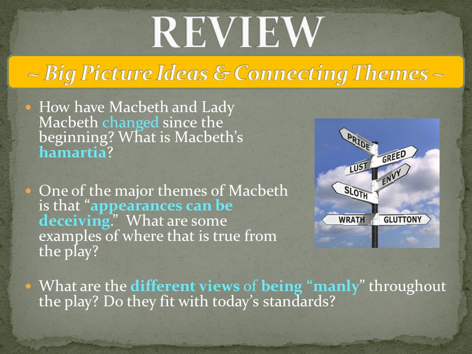 What is a good hamartia for Macbeth?
