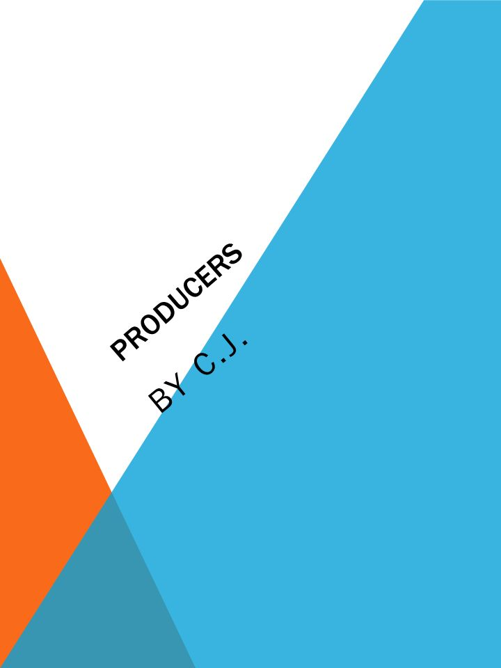 Producers By C.J.. Description Of The Occupation Including Main