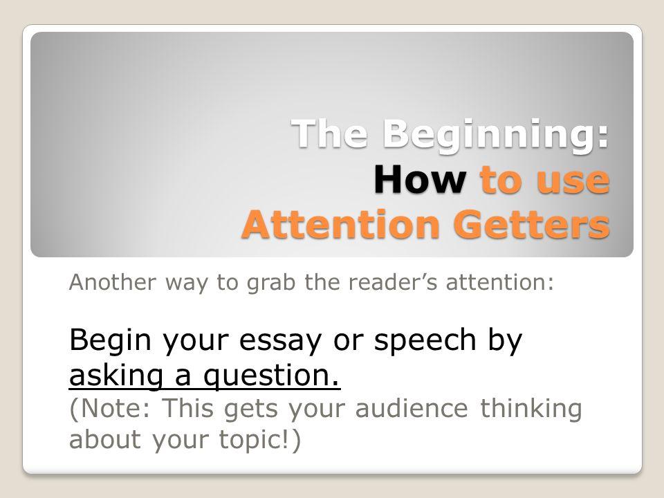 begin an essay