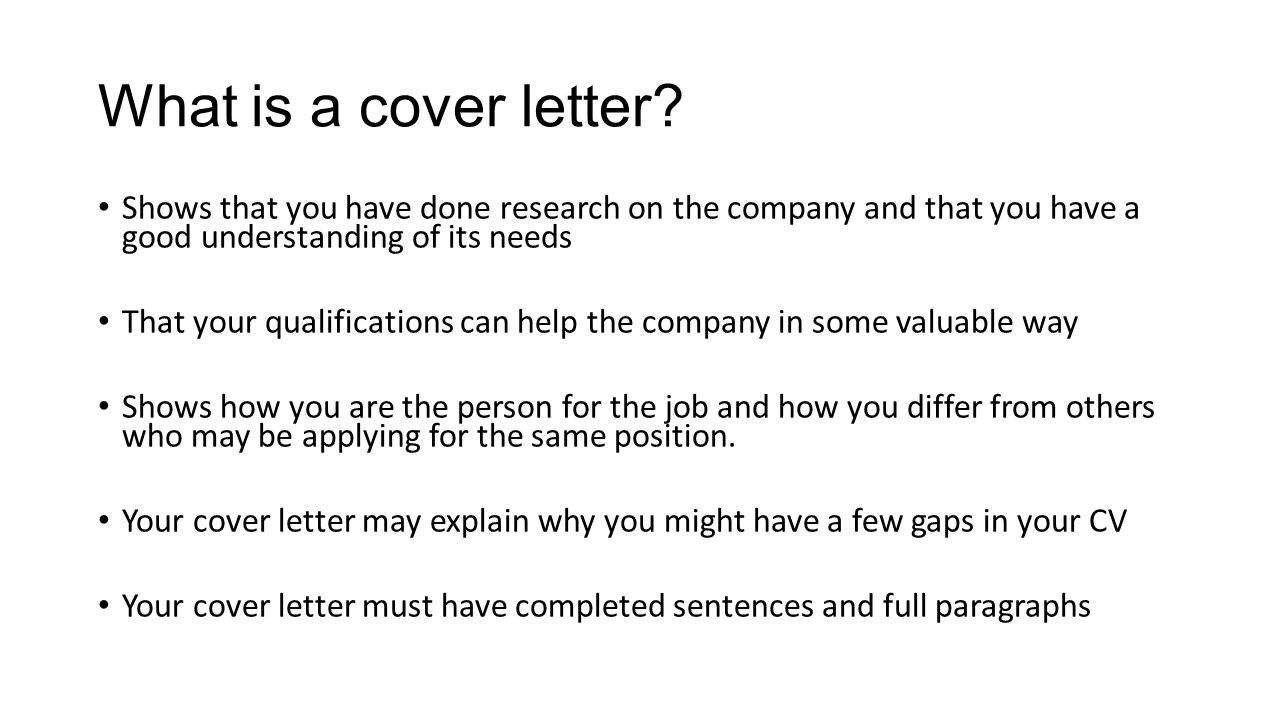Class Two Cover Letters Objectives At The End Of This Class