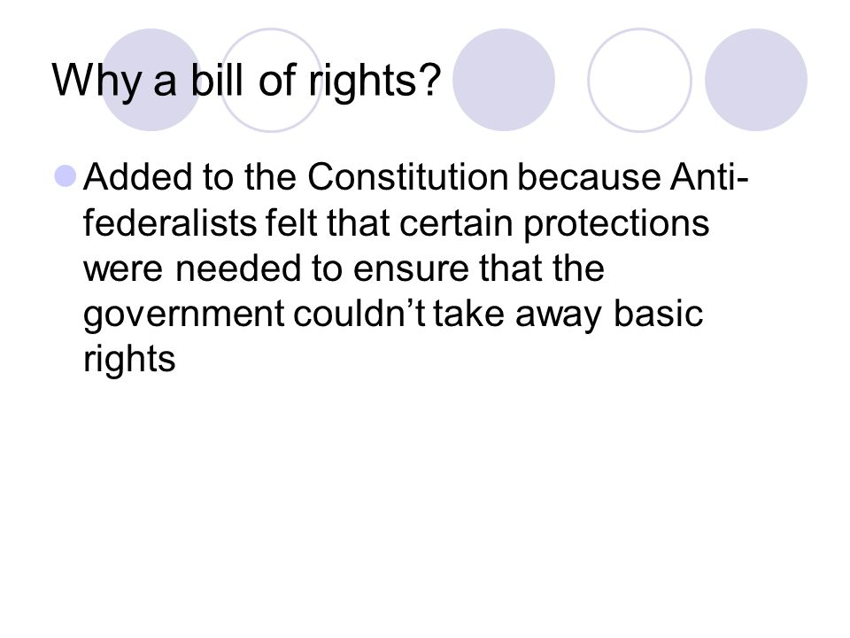 Bill of Rights The first 10 amendments to the Constitution. - ppt ...