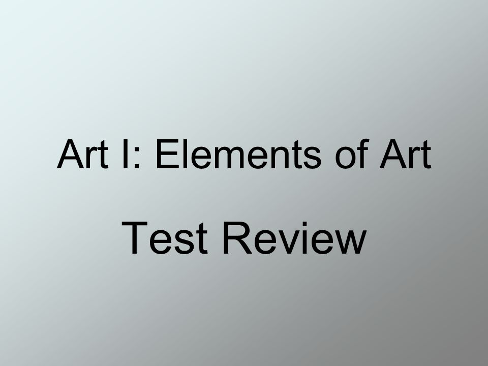 Form Art Term : Art i elements of test review the vanities human life