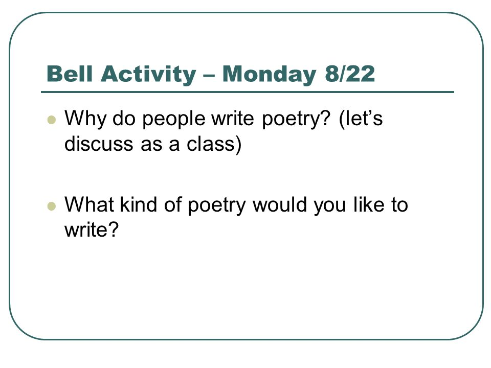 Why do people like poetry?