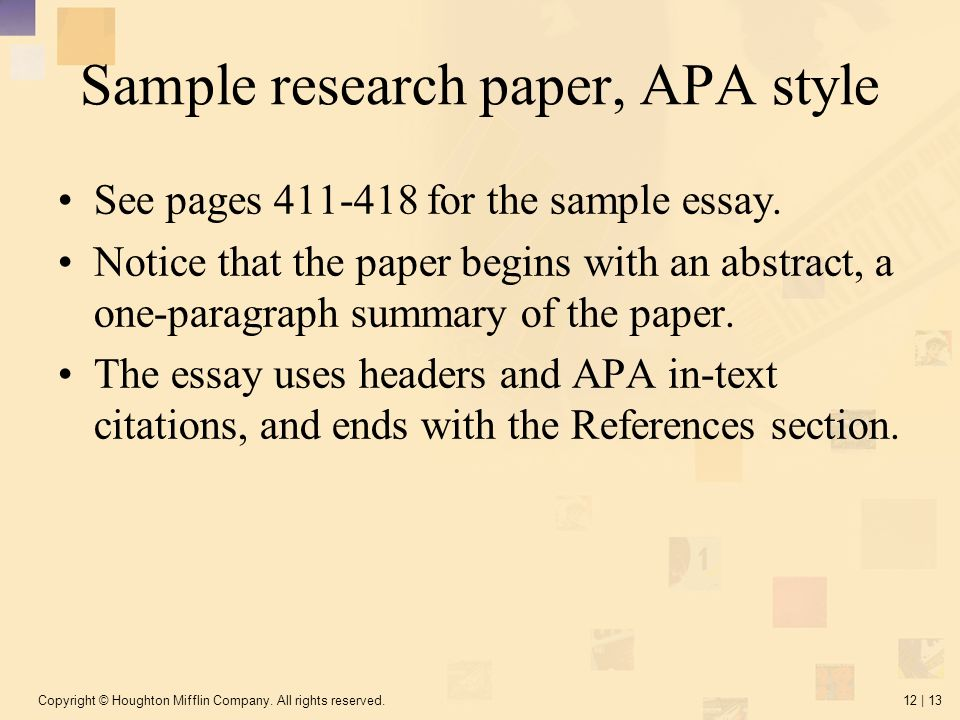 apa style citation in research papers Step 12 research paper quotes and citations (mla) the apa style is the method for formatting a paper, including quotations, and citing sources, that has been provided.