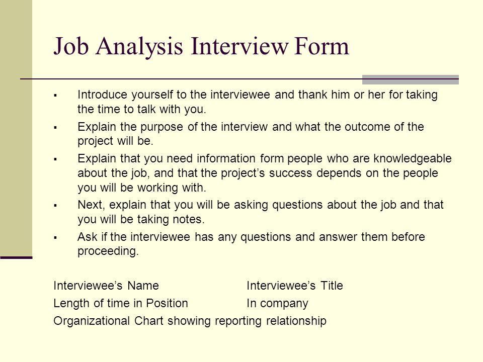 Job Analysis 1 MANA 4328 Dr Jeanne Michalski ppt download – Sample Job Analysis