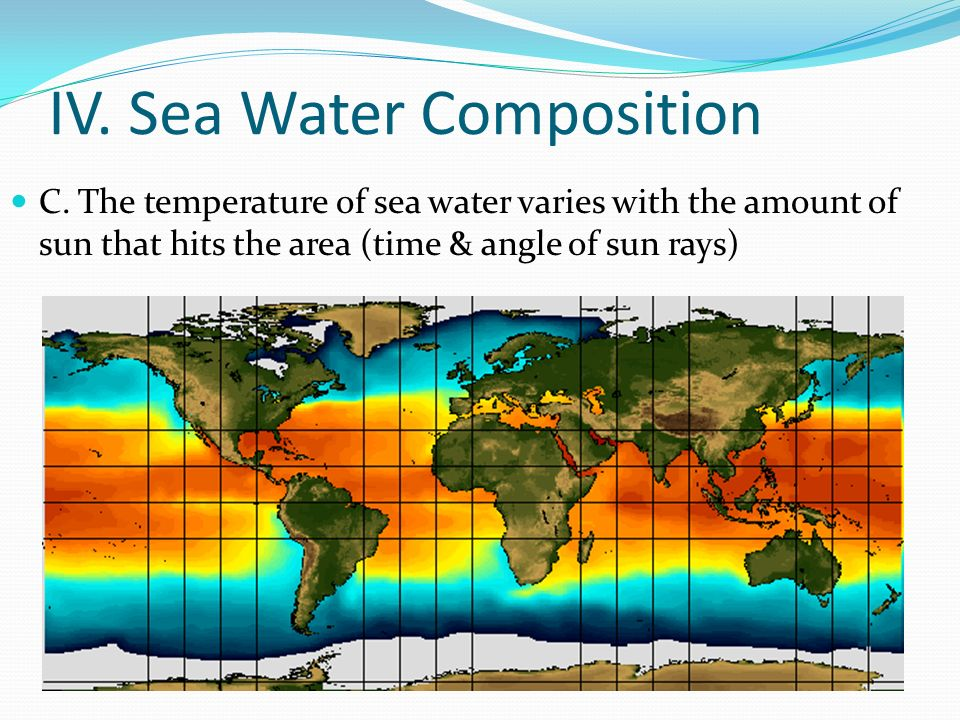 IV. Sea Water Composition C.