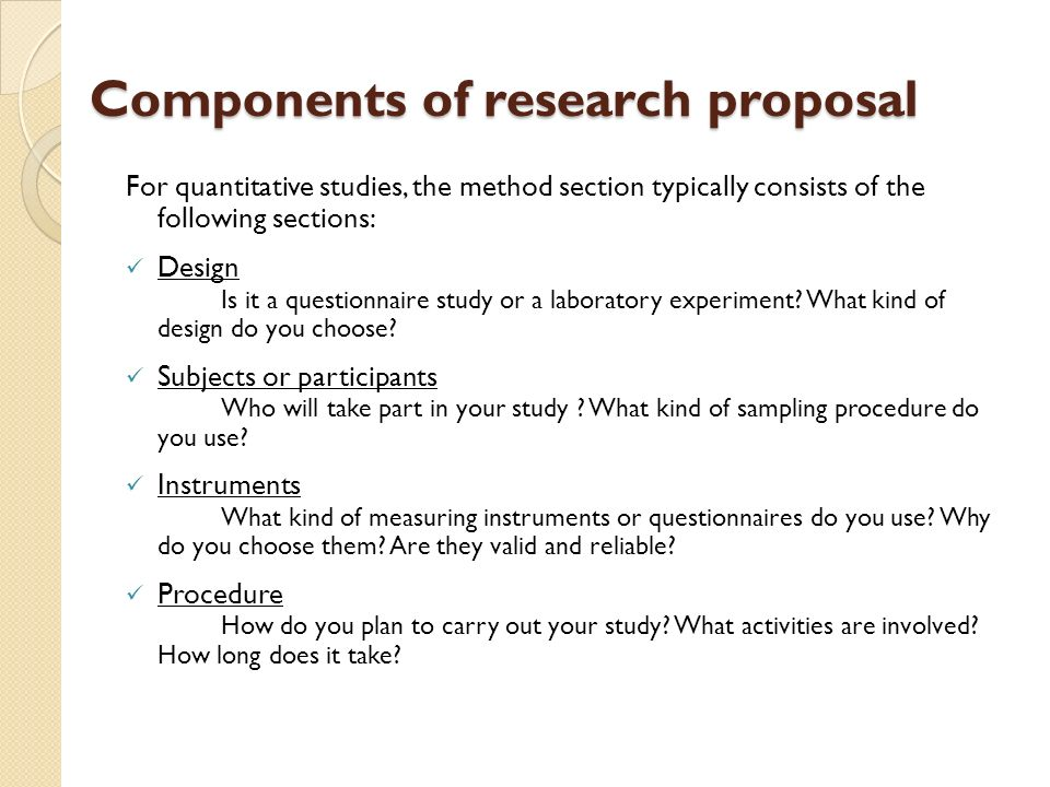 drafting a research proposal