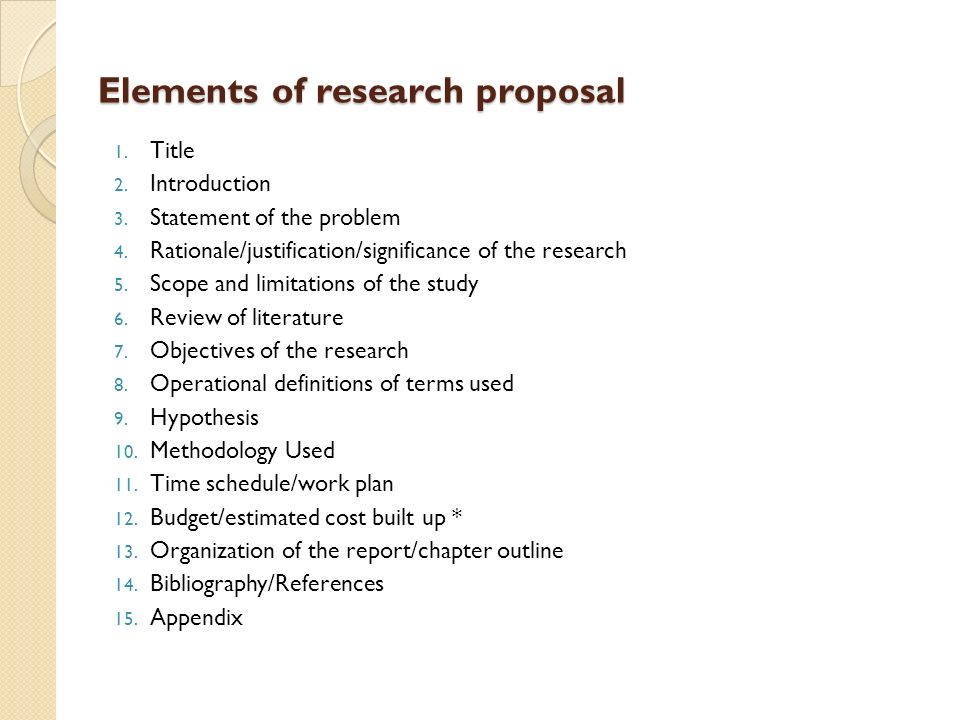 Undergraduate Research Proposal Examples  Academic Writing Services