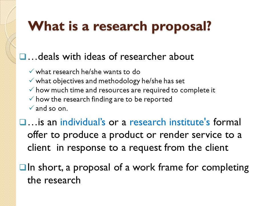 Parts Of Thesis Proposal