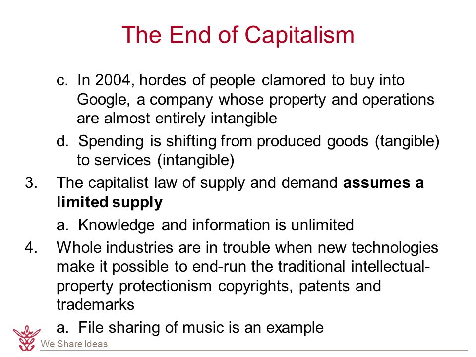 We Share Ideas The End of Capitalism c.