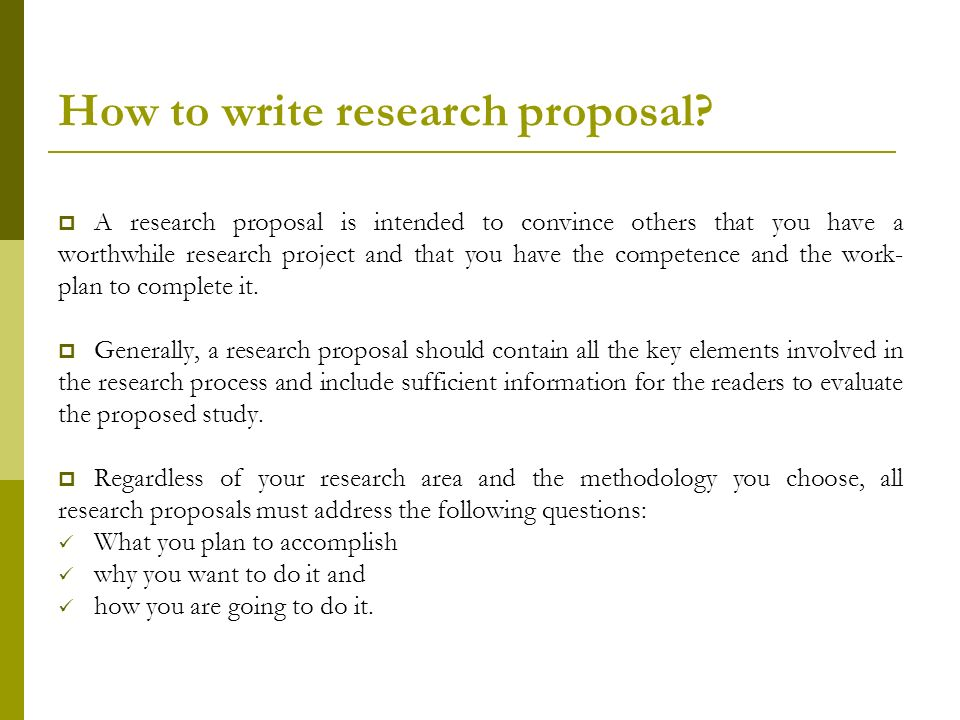 How to make a research