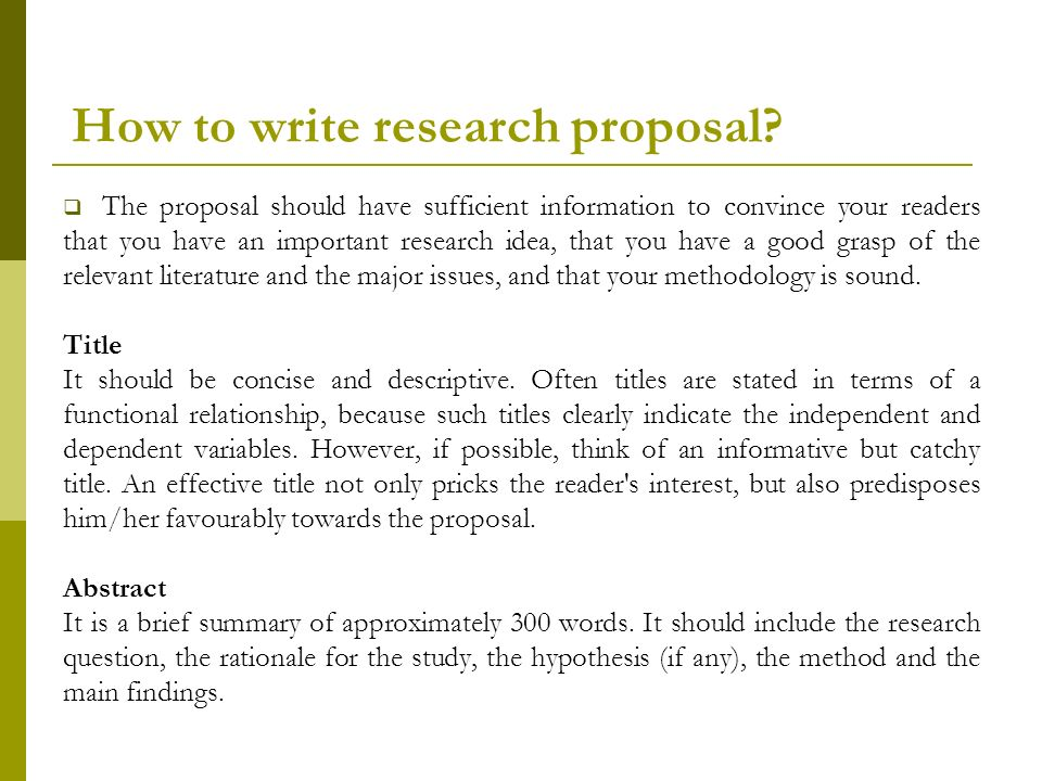 writing thesis proposal abstract A thesis can be intimidating to write, so having a strong thesis proposal example can go a long way.