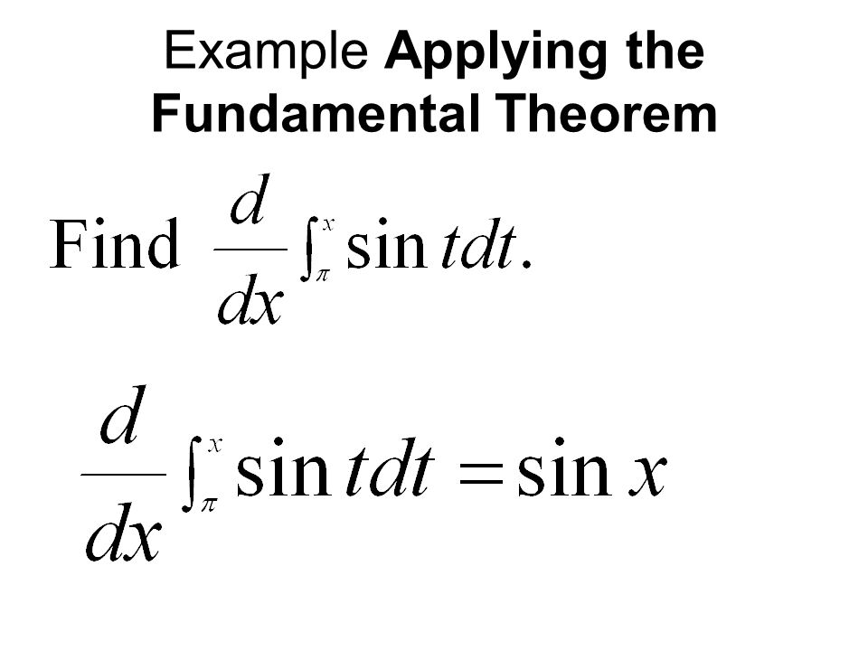 Example Applying the Fundamental Theorem