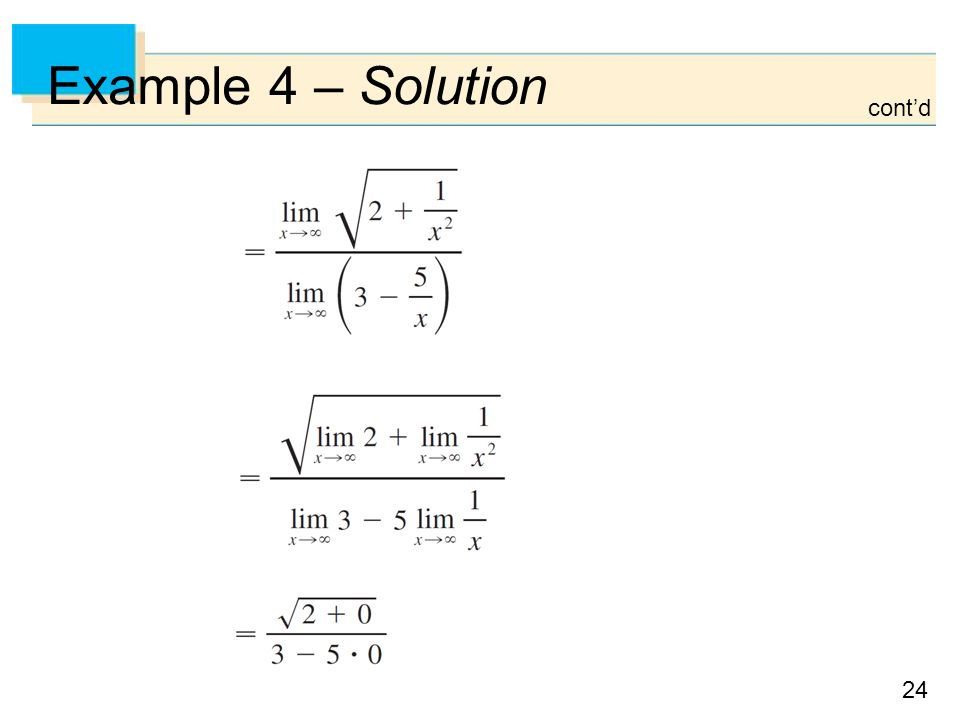 24 Example 4 – Solution cont'd