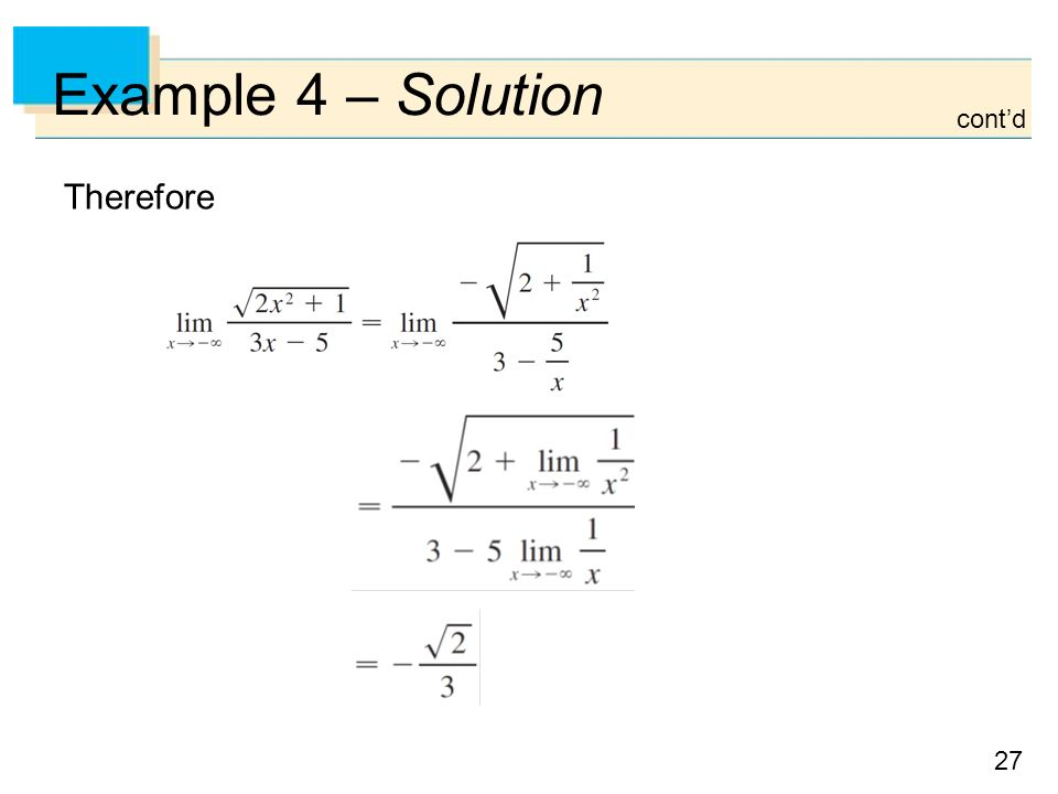 27 Example 4 – Solution Therefore cont'd