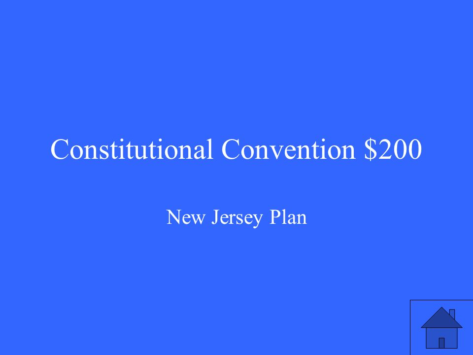 Constitutional Convention $200 New Jersey Plan